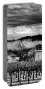 Fog Over The Vineyard Portable Battery Charger