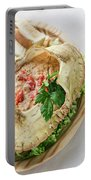 Fresh Crab Seafood Cream Mousse With Toast Tapas Snack Portable Battery Charger