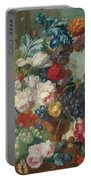 Fruit And Flowers In A Terracotta Vase Portable Battery Charger