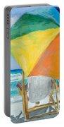 Beach Umbrella By Marilyn Nolan-johnson Portable Battery Charger