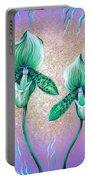 2 Green Orchids. Sunrise Portable Battery Charger