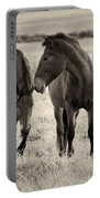 Horses Of The Fall  Bw Portable Battery Charger