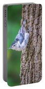 Huthatch Bird  Nut Pecker In The Wild On A Tree Portable Battery Charger
