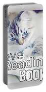 I Love Reading Books Portable Battery Charger