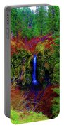 Indian Canyon Waterfall Portable Battery Charger