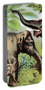 Indian Elephant, Endangered Species Portable Battery Charger