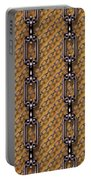Iron Chains With Wood Seamless Texture Portable Battery Charger