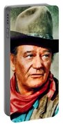 John Wayne, Hollywood Legend By John Springfield Portable Battery Charger