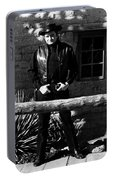 Johnny Cash Gunfighter Hitching Post Old Tucson Arizona 1971 Portable Battery Charger