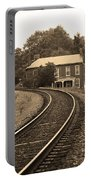 Jonesborough Tennessee - Curved Train Tracks Portable Battery Charger