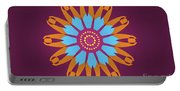 Landscape Purple Back And Abstract Orange And Blue Star Portable Battery Charger