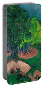Landscape With Chestnut Tree Portable Battery Charger