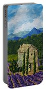 Lavender Farm Portable Battery Charger
