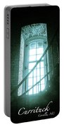 Light Through The Currituck Window - Text Portable Battery Charger