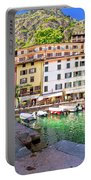 Limone Sul Garda Turquoise Harbor Panoramic View Portable Battery Charger