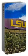 Lsu Tiger Stadium Portable Battery Charger by Scott Pellegrin