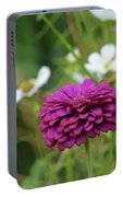 Magenta Zinnia  Portable Battery Charger
