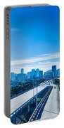 Miami Florida City Skyline And Streets Portable Battery Charger