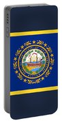 New Hampshire Flag Portable Battery Charger