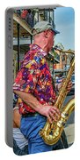 New Orleans Jazz Sax  Portable Battery Charger