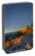Northern Lights At Mount Pilchuck Portable Battery Charger