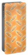 Orange Metal Portable Battery Charger
