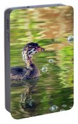 Pied-billed Grebe Bubbles Portable Battery Charger