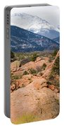 Pikes Peak From Red Rocks Canyon Portable Battery Charger