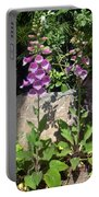 2 Pink Bell Flowers. Foxglove Portable Battery Charger
