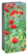 Poppy Flowers Meadow Spring Season Portable Battery Charger