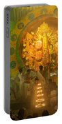 Priest Praying To Goddess Durga Durga Puja Festival Kolkata India Portable Battery Charger