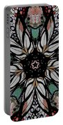 Quilted Starflower Portable Battery Charger