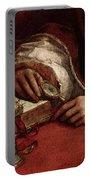 Raphael Pope Leo X With Cardinals Giulio De  Medici And Luigi De  Rossi  Portable Battery Charger
