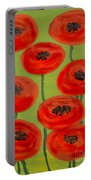 Red Poppies Portable Battery Charger
