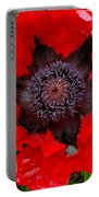 Red Poppy Photograph Portable Battery Charger