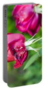 Red Rose Bud Portable Battery Charger