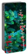 Red Salvias Portable Battery Charger
