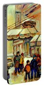 Ritz Carlton Montreal Streetscene Portable Battery Charger