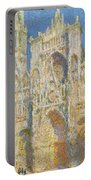 Rouen Cathedral, West Facade, Sunlight Portable Battery Charger