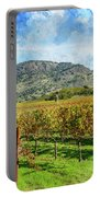 Rows Of Grapevines In Napa Valley Caliofnia Portable Battery Charger