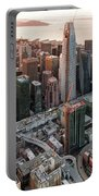 San Francisco Financial District Skyline Portable Battery Charger