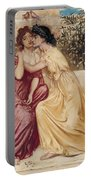 Sappho And Erinna In A Garden At Mytilene Portable Battery Charger
