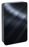 Shiny Black Hair  Portable Battery Charger