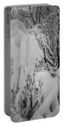 Snow Covered Trees In The North Carolina Mountains During Winter Portable Battery Charger