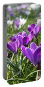 Spring Crocuses Portable Battery Charger