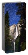 Star Trails At Yosemite Falls Portable Battery Charger