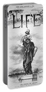 Statue Of Liberty Cartoon Portable Battery Charger