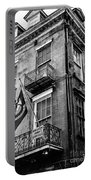 2 Story Building New Orleans Black White  Portable Battery Charger