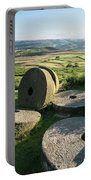 Summer Landscape Image Of Millstones On Top Of Stanage Edge In P Portable Battery Charger