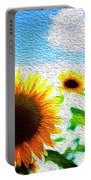 Sunflowers Abstract Portable Battery Charger